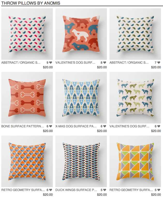 anomis Pillows